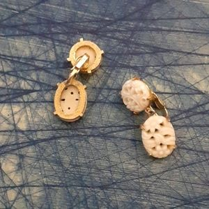 Vintage lucite ivory earring